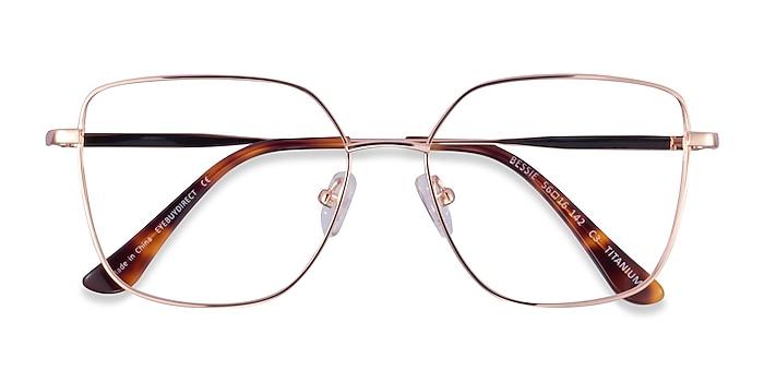 Rose Gold Bessie -  Titanium Eyeglasses