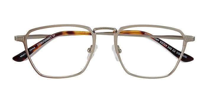 Matte Gold Astronomy -  Titanium Eyeglasses