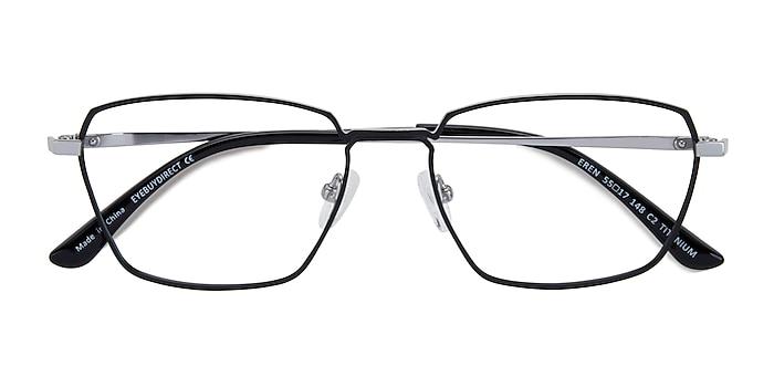Black Silver Eren -  Titanium Eyeglasses