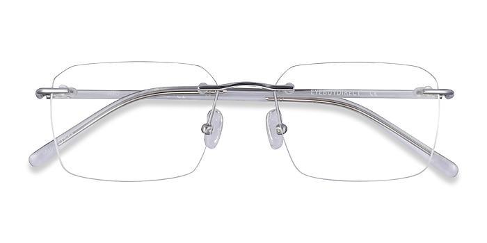 Silver Clear Nate -  Titanium Eyeglasses