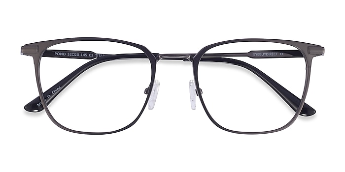 Matte Gunmetal Pond -  Titanium Eyeglasses