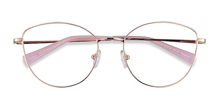 Rose Gold Mandolin -  Titanium Eyeglasses