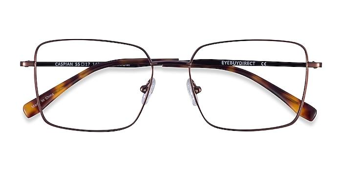 Coffee Caspian -  Titanium Eyeglasses