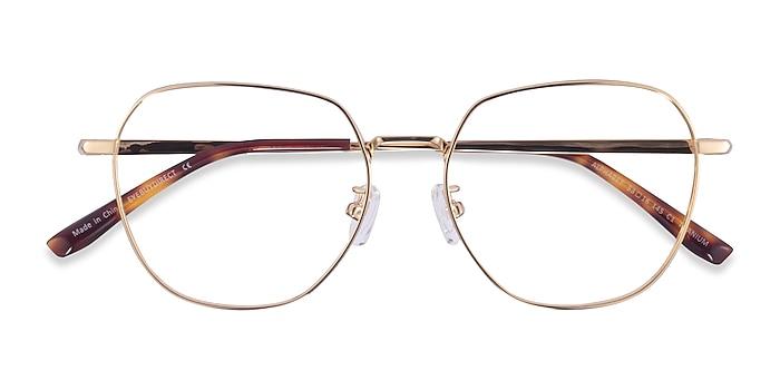 Gold Alphabet -  Titanium Eyeglasses