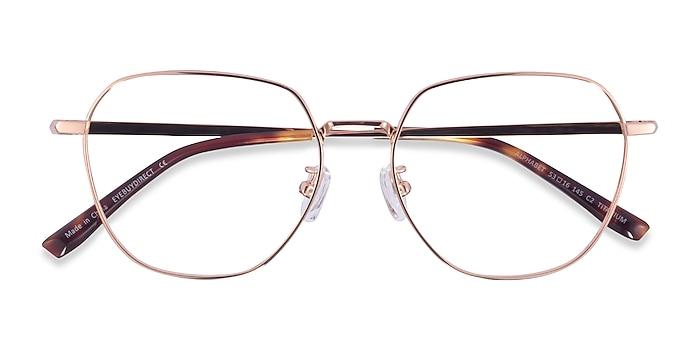 Rose Gold Alphabet -  Titanium Eyeglasses