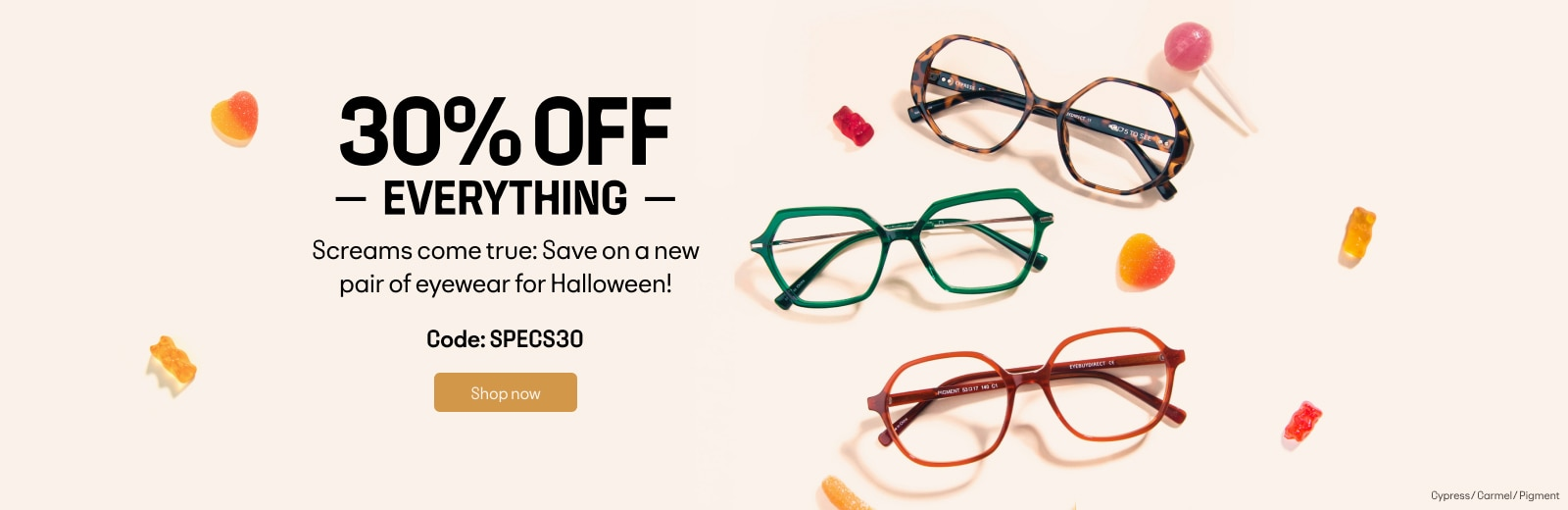 30% OFF EVERYTHING CODE: SPECS30